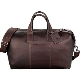 Customized Kenneth Cole Colombian Leather Weekender Duffel