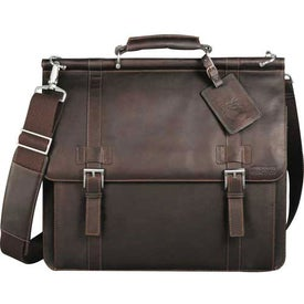 Advertising Kenneth Cole Colombian Leather Dowel Compu-Messenger