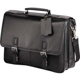 Branded Kenneth Cole Manhattan Leather Compu-Messenger