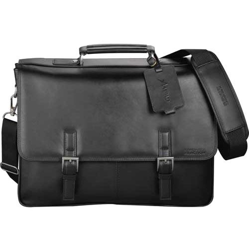 Kenneth Cole Manhattan Leather Compu-Messenger