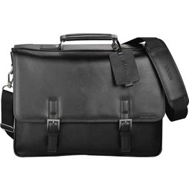 Kenneth Cole Manhattan Leather Compu-Messenger Printed with Your Logo