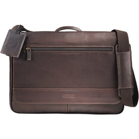 Customized Kenneth Cole Colombian Leather Compu-Messenger