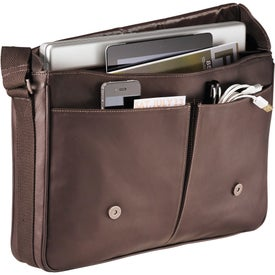 Kenneth Cole Colombian Leather Compu-Messenger with Your Slogan