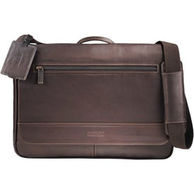 Kenneth Cole Colombian Leather Compu-Messenger Imprinted with Your Logo