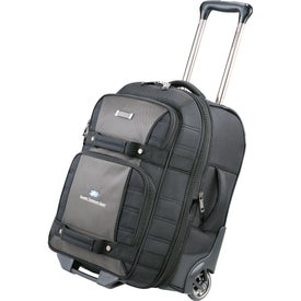 "Personalized Kenneth Cole Tech 21"" Wheeled Carry-On Luggage"