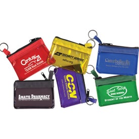 Key Ring Zippered Translucent Pouch