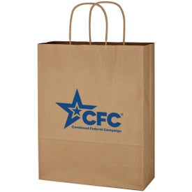 "Kraft Paper Brown Shopping Bags (10"" x 13"" x 5"")"