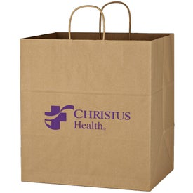 "Kraft Paper Brown Shopping Bag (14"" x 15"" x 10"")"