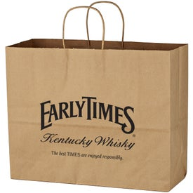 "Kraft Paper Brown Shopping Bag (16"" x 12-1/2"")"