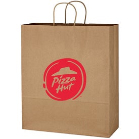"Kraft Paper Brown Shopping Bags (16"" x 19"" x 6"")"