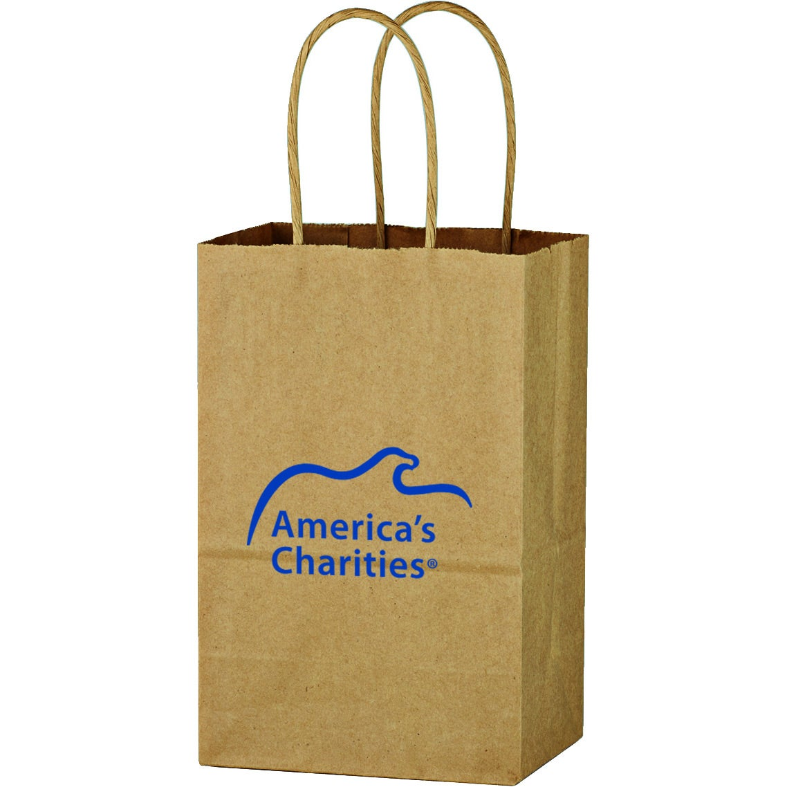 "Kraft Paper Brown Shopping Bag (5 1/4"" x 8 1/4"")"