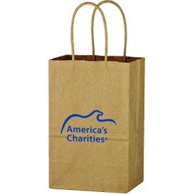 "Kraft Paper Brown Shopping Bag (5.25"" x 8.25"" x 3.5"")"