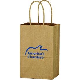 """Kraft Paper Brown Shopping Bag (5 1/4"""" x 8 1/4"""")"""