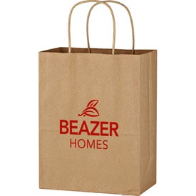 "Kraft Paper Brown Shopping Bag (8"" x 10 1/4"")"