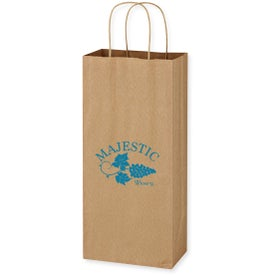 "Kraft Paper Brown Wine Bag (5.25"" X 13"")"