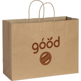 Kraft Paper Shopper Bag (Brown)