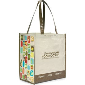 Laminated 100% Recycled Shopper for Your Organization