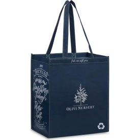 Monogrammed Laminated 100% Recycled Shopper