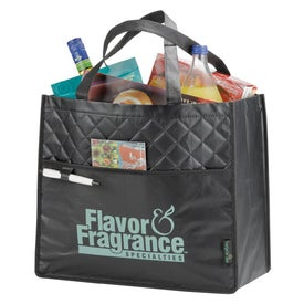 Laminated Non-Woven Quilted Carry-All Tote Bags