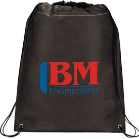 Large Champion Drawstring Cinch Backpack with Your Logo