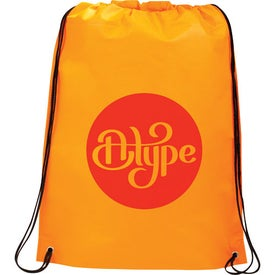 Monogrammed Large Champion Drawstring Cinch Backpack