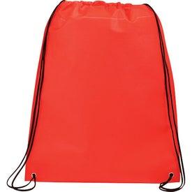 Imprinted Large Champion Drawstring Cinch Backpack