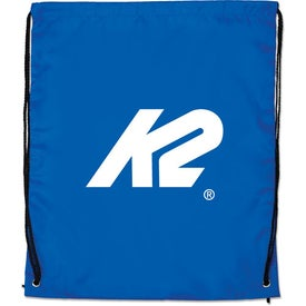 Large Drawstring Backpack with Your Slogan
