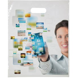 "Digital Full Color Die Cut Bag (12"" x 15"")"