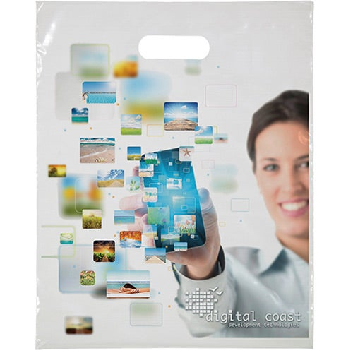 "Digital Full Color Die Cut Bag (12"" x 15"")"