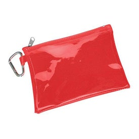 Large Translucent Pouch With Carabiner with Your Slogan