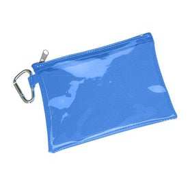 Custom Large Translucent Pouch With Carabiner
