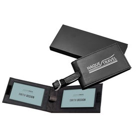 Leatherette Luggage Tag Double