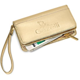 Lexi Leather Wristlet Wallet for Your Organization