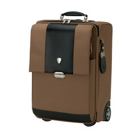 Printed Light Brown Trolley Case