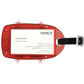 Customized Light Up Luggage Tag