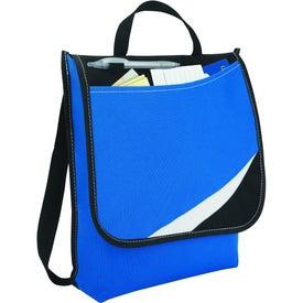 Imprinted Logic Messenger Bag