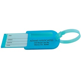 Luggage Tag with Slide Out ID Panel for Marketing