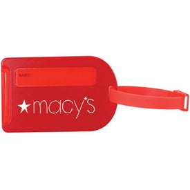 Luggage Tag with Slide Out ID Panel Branded with Your Logo