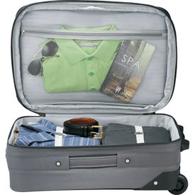 """Luxe 21"""" Expandable Carry-On Luggage with Your Logo"""