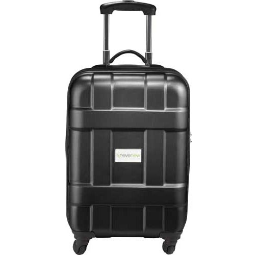 Black Luxe Hardside 4-Wheeled Spinner Carry-On Luggage