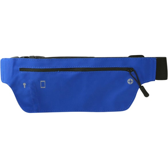 Royal Blue / Black Lycra Running Belt Fanny Pack