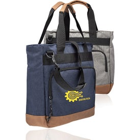 Lyon Two-Tone Polyester Messenger Bag