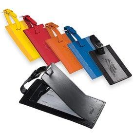 Majestic Leather Luggage Tag Printed with Your Logo