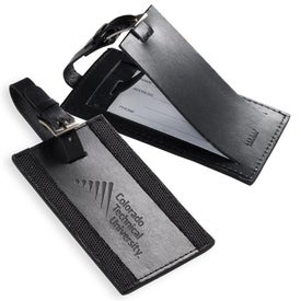 Printed Majestic Leather Luggage Tag