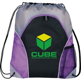 Marathon Drawstring Cinch Backpack Branded with Your Logo