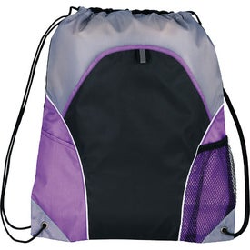 Marathon Drawstring Cinch Backpack Imprinted with Your Logo