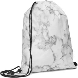 Marble Non-Woven Drawstring Backpacks