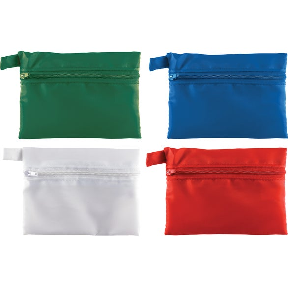 Blue Marko Zippered Bag