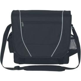 Printed Multi-pockets Messenger Bag