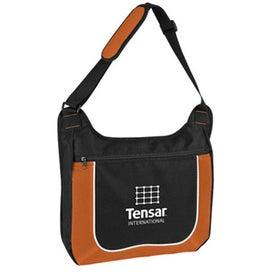 Company Mesh Accent Zipper Shoulder Bag